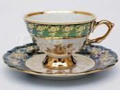 "Набор для чая ""Роза зеленая""(чашка150мл.+блюдце) на 6перс.12пред."