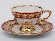 "Набор для чая ""Роза красная""(чашка150мл.+блюдце) на 6перс.12пред."