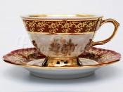 "Набор для чая ""Роза красная""(чашка200мл.+блюдце) на 6перс.12пред."