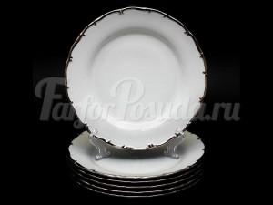"Набор тарелок 25см ""Платина АГ-902"""