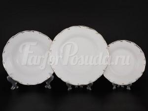 """Набор тарелок для сервировки стола """"Платина АГ902"""" 18шт."""