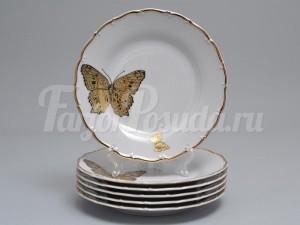 """Набор тарелок 19см. """"Бабочки 858"""" 6шт."""