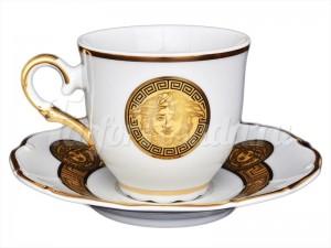 "Набор для чая ""Медуза МГ 879""(чашка+блюдце) на 6перс.140мл."