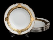 "Набор тарелок ""Медуза МГ879"" 23см.6шт. глубокая"