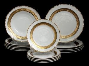 "Набор тарелок для сервировки стола ""Версаче МГ880"" 18шт."