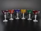 """Набор бокалов 130 мл """"Цветные"""" R-G"""