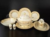 "Сервиз столовый ""Cream Imperial decor Gold"" на 6 персон 26 предметов"