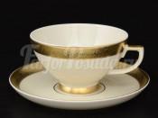 """Набор чайных пар на 6 персон """"Gold Ornaments cream-3064"""""""