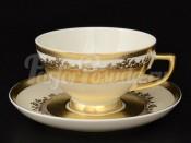 """Набор чайных пар 6 персон.""""Cream Pure Elegance Gold 9320"""""""