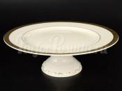"Блюдо для торта на ножке 32 см ""Gold Ornaments cream-3064"""