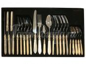 Набор столовых приборов 24 предмета на 6 персон Аладдин (слоновая кость/золото)