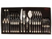 Набор столовых приборов 24 предмета на 6 персон Самарканд (чёрный/серебро)