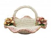 Ваза декоративная с ручкой h 25см (розовая)