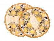 Набор тарелок: суповая и обеденная Итальянские лимоны