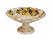 Ваза для фруктов на ножке  Итальянские лимоны