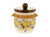 Банка для муки с деревянной крышкой Итальянские лимоны
