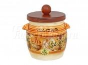 Банка для сыпучих продуктов с деревянной крышкой (сахар) Кантри