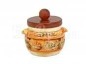 Банка для сыпучих продуктов с деревянной крышкой (кофе) Кантри