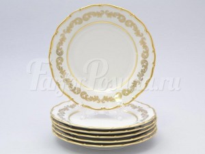 """Набор тарелок 19см. """"Роспись золотая 849"""" 6шт."""