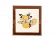 Подставка под горячее из дерева с керамикой Итальянские лимоны