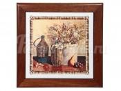 Подставка под горячее из дерева с керамикой Натюрморт