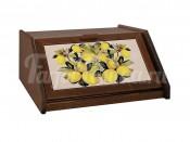 Деревянная хлебница с керамическими вставками Итальянские лимоны
