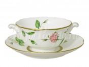 Суповая чашка на блюдце  Цветущие аллеи