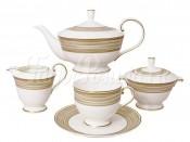 Чайный сервиз из 15 предметов на 6 персон Золотой вихрь