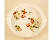 Блюдо круглое  Белая камелия