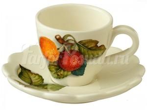 Чашка с блюдцем Итальянские фрукты