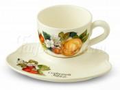 Чашка на блюдце-подносе  Итальянские фрукты