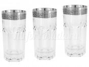 6 стаканов для воды Версаче серебро