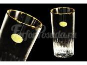 Набор: 6 хрустальных стаканов для воды Палаццо золото