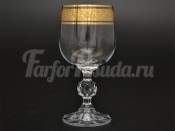 "Набор бокалов для вина 190 мл ""Клаудия Золото"" Kvetna"