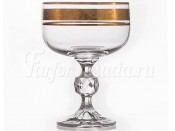 "Набор бокалов для мартини 210 мл ""Клаудия Золото"" Kvetna"