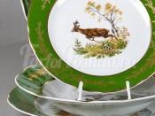 """Набор тарелок 18 предметов """"Охота Зеленая Мэри-Энн"""""""