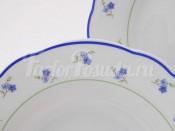 """Набор тарелок мелких 25 см """"Синие Цветы Мэри-Энн"""""""