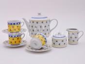 """Чайный сервиз """"Мелкие цветы Сабина"""" 6 персон 15 предметов"""