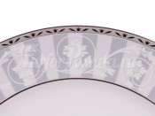 "Набор колец для салфеток 6 шт ""Платиновый орнамент Сабина"""