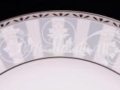 """Набор постановочных тарелок 25 см 6 шт.  """"Платиновый орнамент Сабина""""."""
