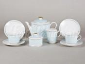 """Чайный сервиз """"Голубое плетение Сабина"""" 6 персон 15 предметов"""