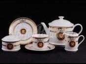 """Чайный сервиз """"Медуза золотая Сабина"""" 6 персон 15 предметов"""
