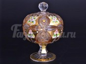 """ваза для конфет с крышкой 11,6 см """"Яхами"""" золото"""