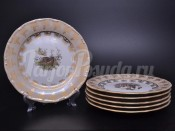 """Набор тарелок 25 см """"Охота Бежевая"""" Эпиаг"""
