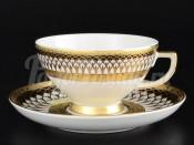 """Набор чайных пар  """"Toronto White Black Gold"""""""