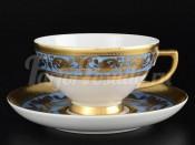 """Набор чайных пар 250 мл """"Imperial Blue Gold"""" 6 шт"""