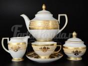 """Чайный сервиз на 6 персон 15 предметов """"Alena Cream Gold"""""""