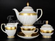 """Сервиз чайный """"Gold band 9342"""" на 6 персон 15 предметов"""