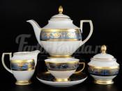 """Чайный сервиз на 6 персон 15 предметов """"Imperial Blue Gold"""""""
