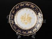 """Набор тарелок 19 см 6 шт """"Роза золотая кобальт"""" ОФ677/G"""